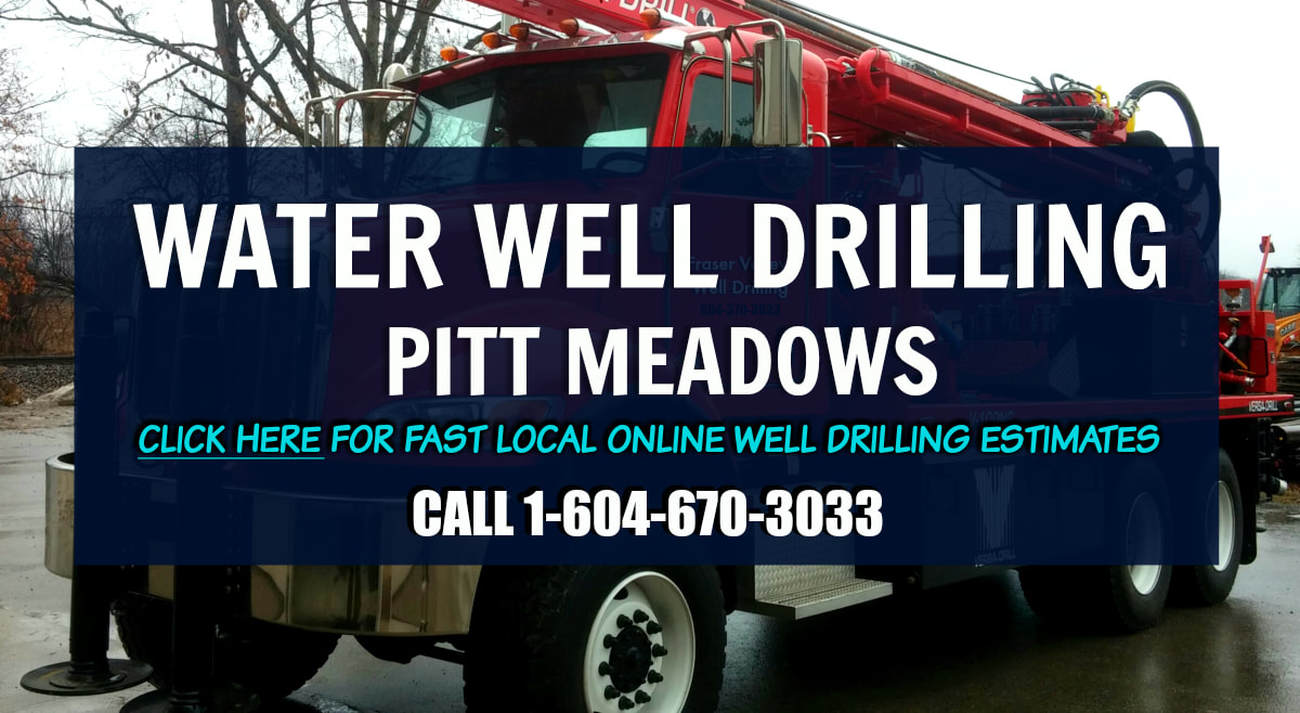 Water Well Drilling Pitt Meadows - Red Drill Rig